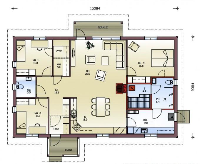 План этажа delfiini144
