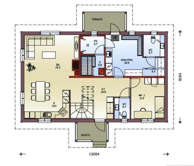 План 1го этажа kultakala192