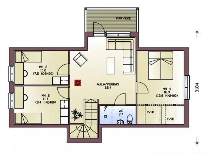План 2го этажа kultakala192