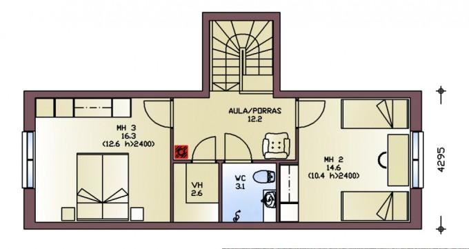 План мансардного этажа purje174