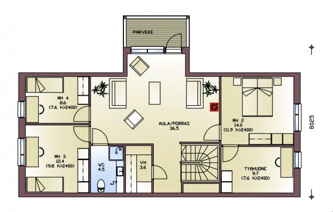 План 2го этажа tukaani245