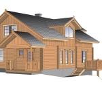 финский деревянный дом olos214а