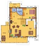 деревянный дом olos214а 2 этаж