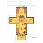 деревянный дом olos214а 3 этаж