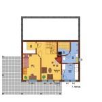 деревянный дом olos214 1 этаж