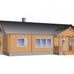 деревянный дом levi105 3d