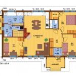 деревянный дом levi105A план 2 вариант