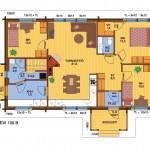 деревянный дом levi105B план 1 вариант