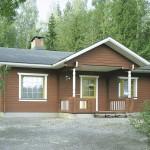 деревянный финский дом levi73A