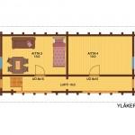гостевой домик outa47a 2floor plan