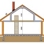 дачный домик 49м2 разрез