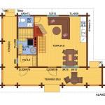 дачный домик 49м2