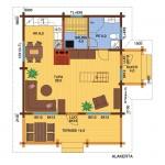 wooden house seita73A 1 floor