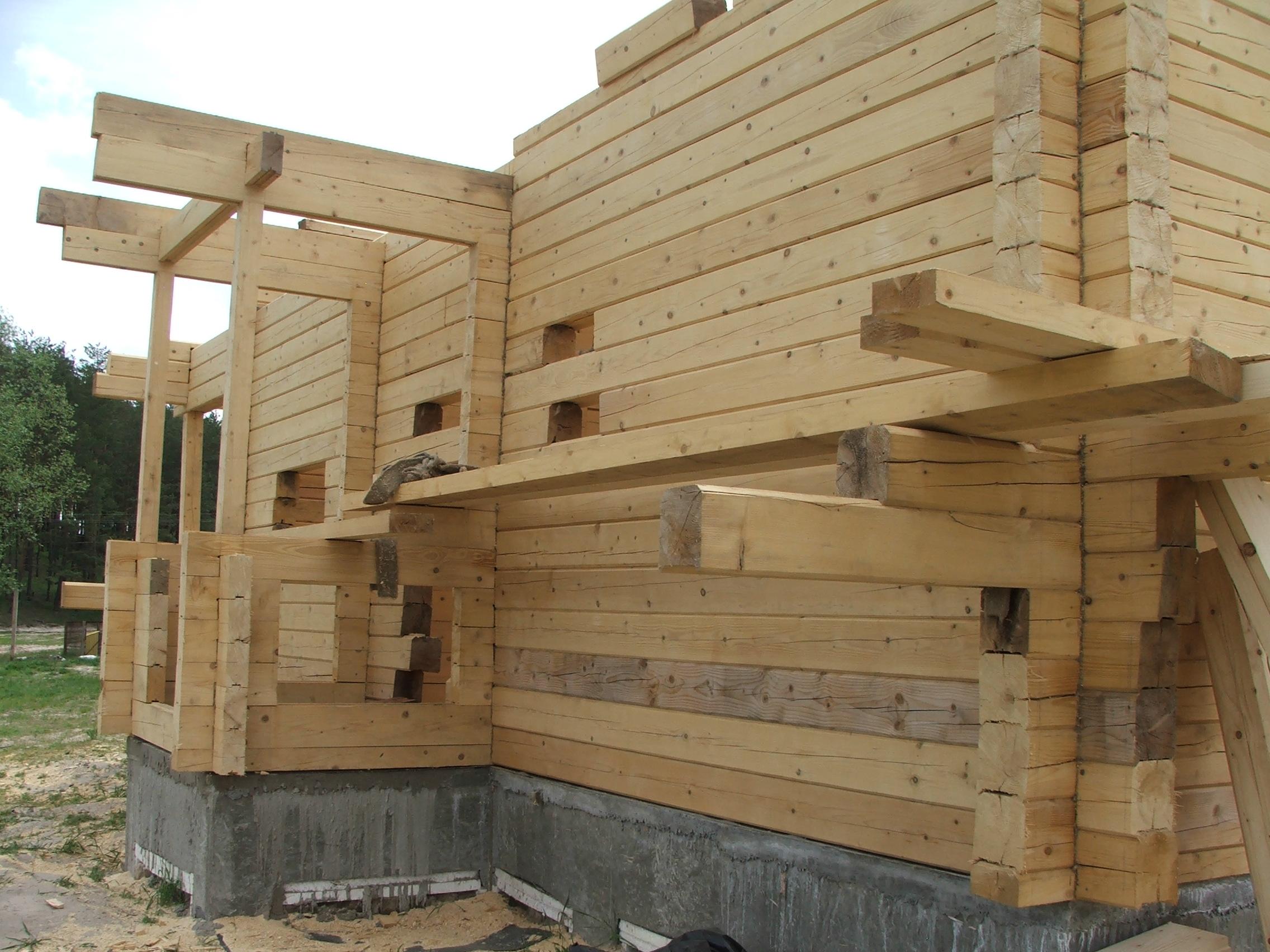 Строим дом из бруса своими руками и своими силами
