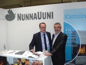 Директора фирм Еврогрупса Владимир Бондарь и NunnaUuni Mr.Tuomas Jarvinen